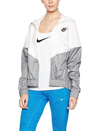 Veste nike femme grise et blanc - Vetement fitness et mode 65bcbfef5d85