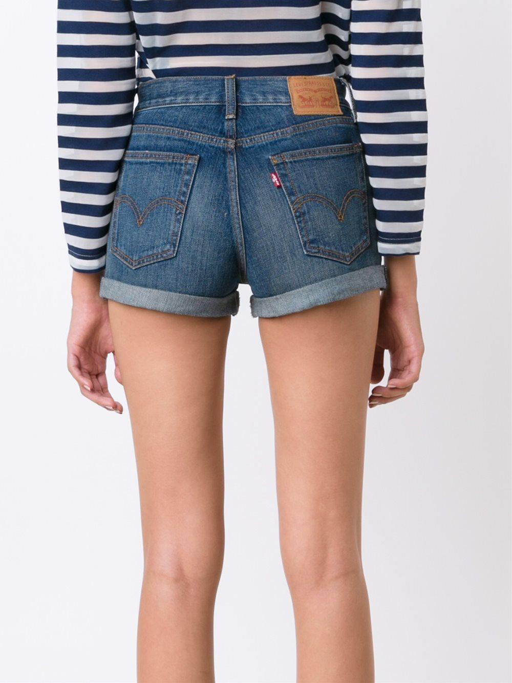 Short en jean femme levis