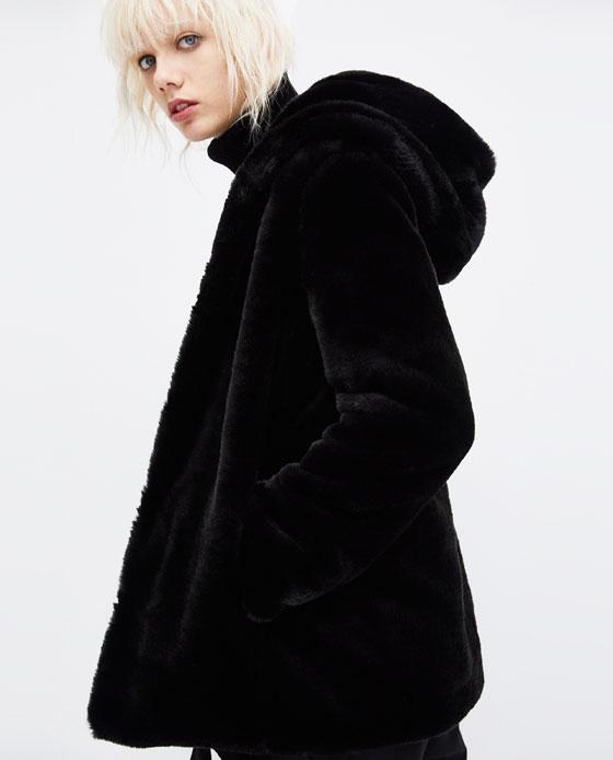 Veste Imitation Fourrure Femme Zara Vetement Fitness Et Mode