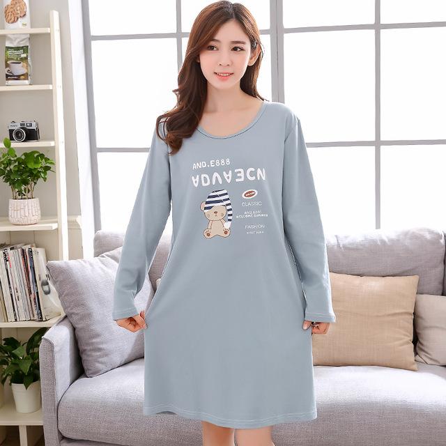 Robe de nuit coton