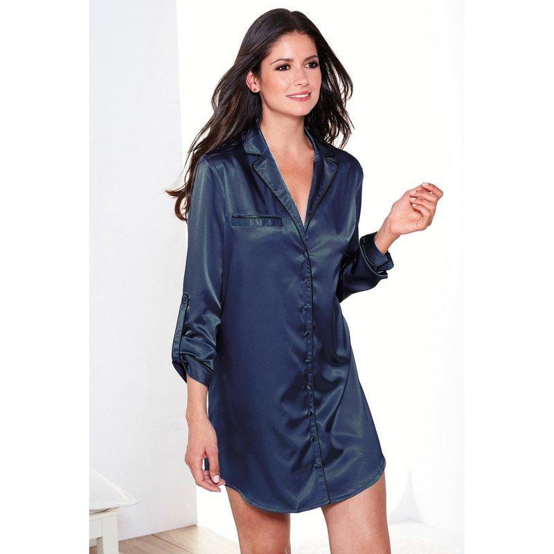 Chemise de nuit femme manche longue - Vetement fitness et mode 59b11a95b211