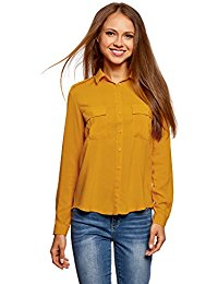 Chemise femme moutarde - Vetement fitness et mode b32f5096d14