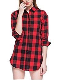Chemise a carreaux femme rouge et noir