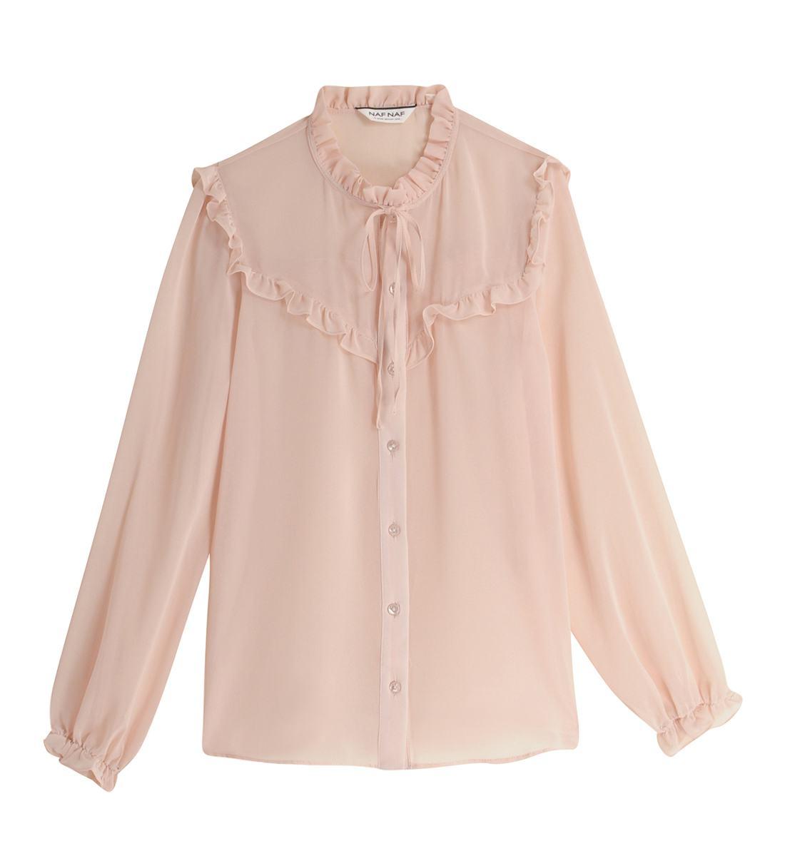 Chemise rose pale femme