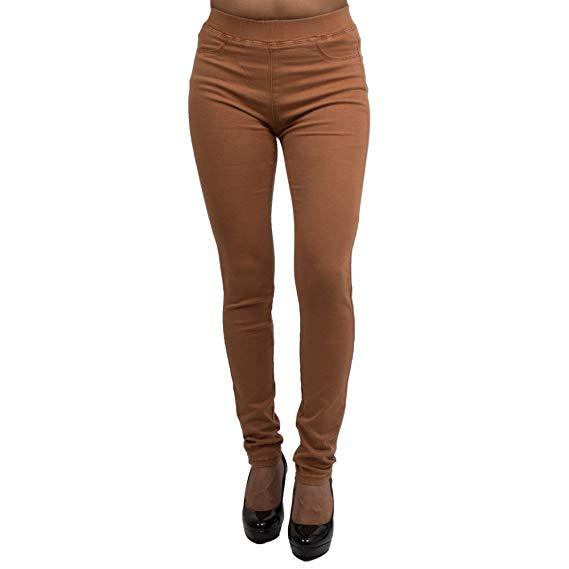 Legging couleur camel femme