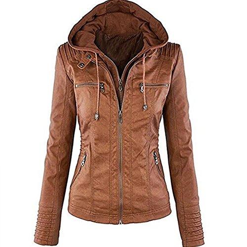 Veste cuir marron femme amazon