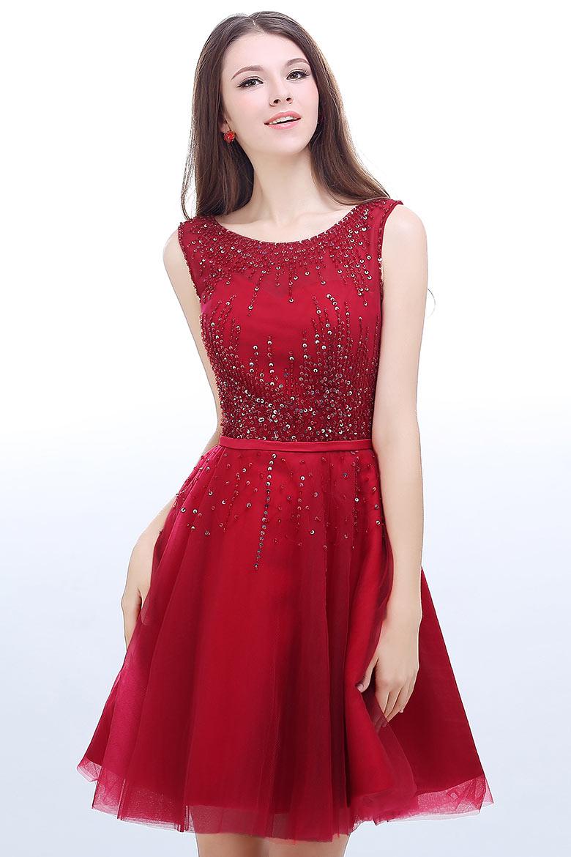 53aff3f048c Robe rouge de soirée courte - Vetement fitness et mode