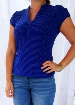 Chemise bleu electrique femme