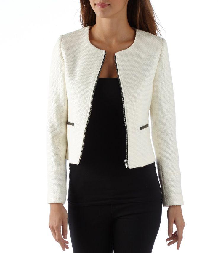 Et Mode Qadcn5d7x Fitness Femme Blanc Vetement Veste Noir qCwxRvRcUE