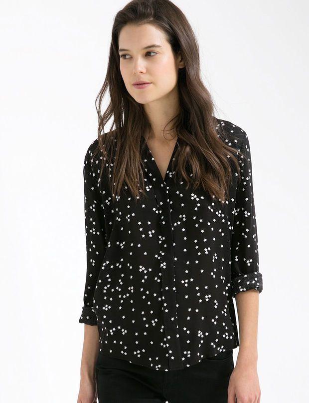 Chemise noire cintrée femme