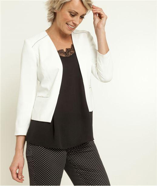 85ae543c2b48 Veste bolero femme blanche - Vetement fitness et mode