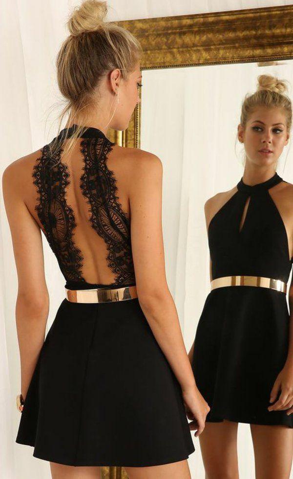 Robe noir de soiree courte