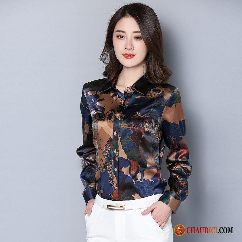 Chemise femme colorée