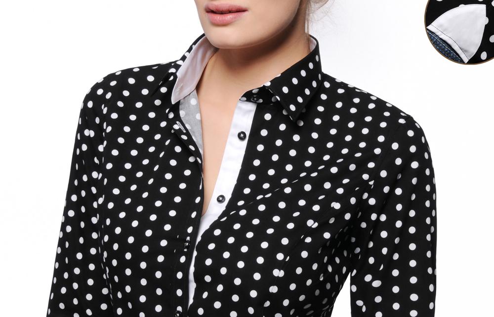 Chemisier femme à pois. Chemisier femme à pois. Je veux trouver une belle  chemise femme et agréable à porter pas cher ICI ... f9400f989952
