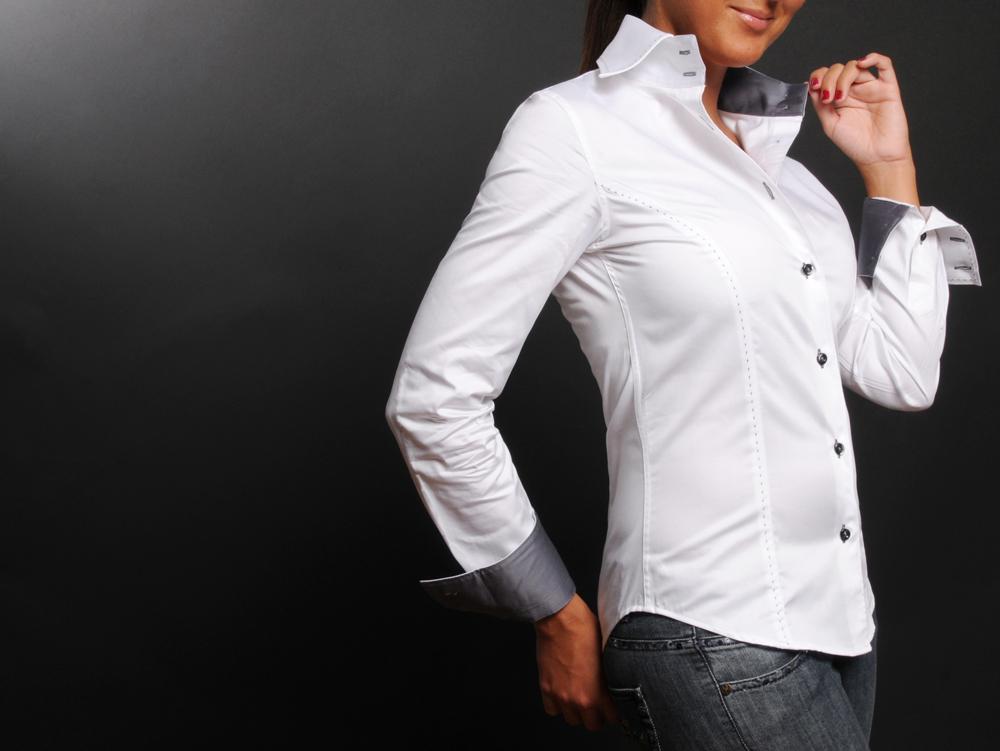 Chemise blanche femme cintrée
