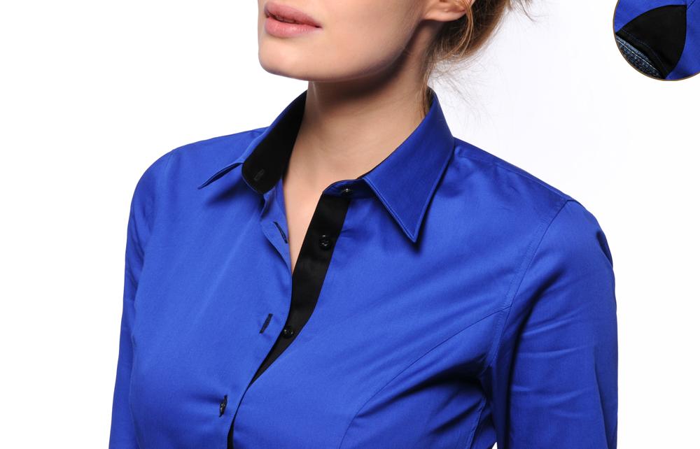 Chemise bleu roi femme