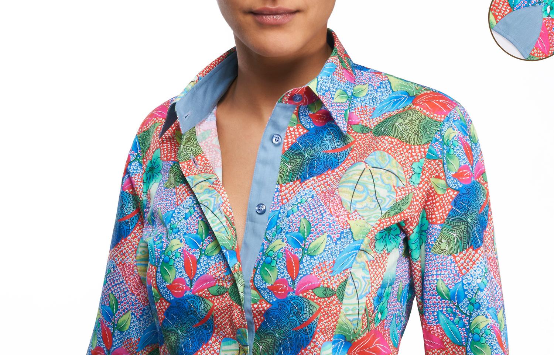 Chemise colorée femme