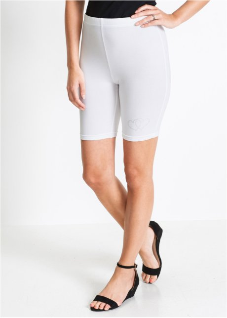 Legging blanc femme 3 4 - Vetement fitness et mode 9a959191d4ae