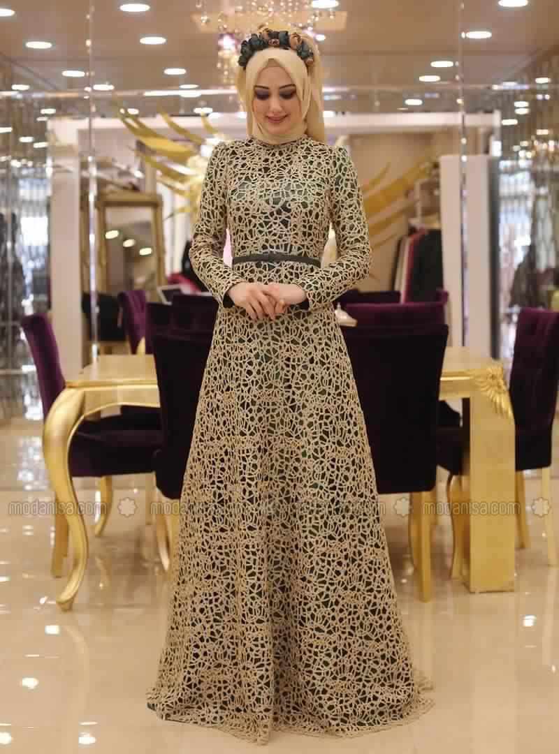 Robe soiree pour des femmes voilees