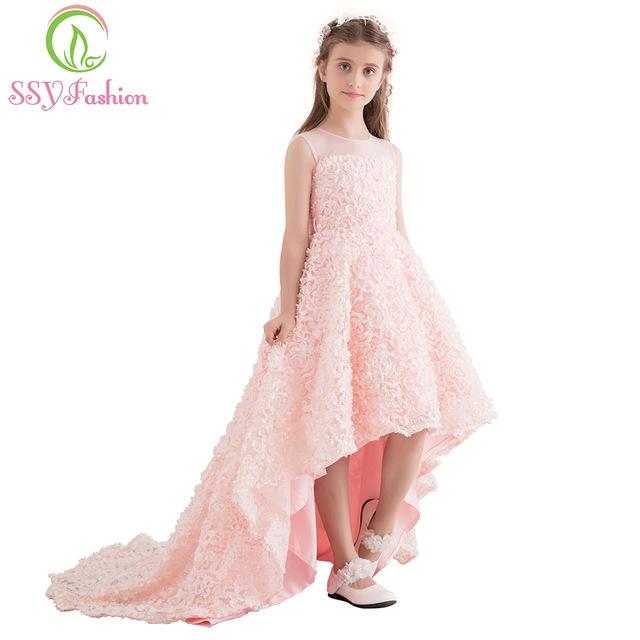 d8b3367721465 Robe dentelle rose fille - Vetement fitness et mode