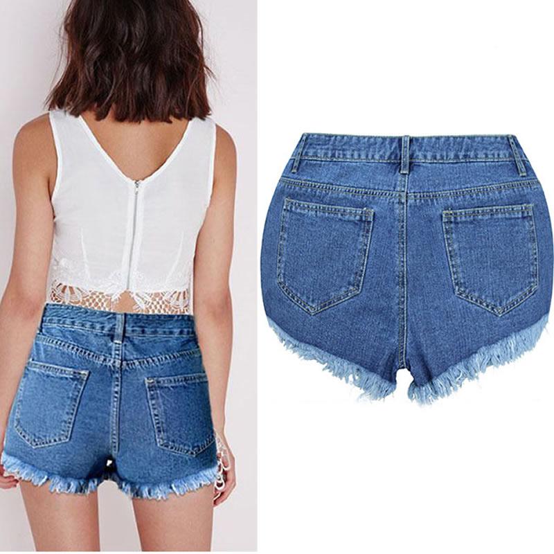 Short femme taille haute jean - Vetement fitness et mode 8d7b9ceac560