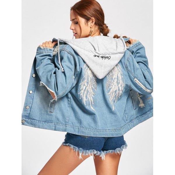 Vetement Mode Veste Avec Et Capuche Jean Femme Fitness wRWPxqfUBg