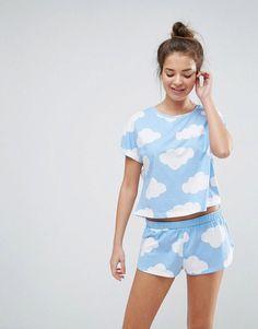 Pyjama short femme c et a