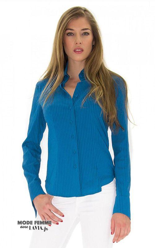 Chemise femme turquoise
