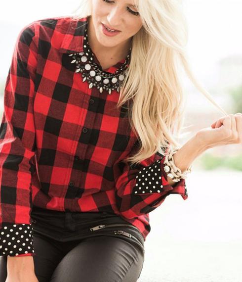 Chemise à carreaux femme comment porter - Vetement fitness et mode c146ff923f7f