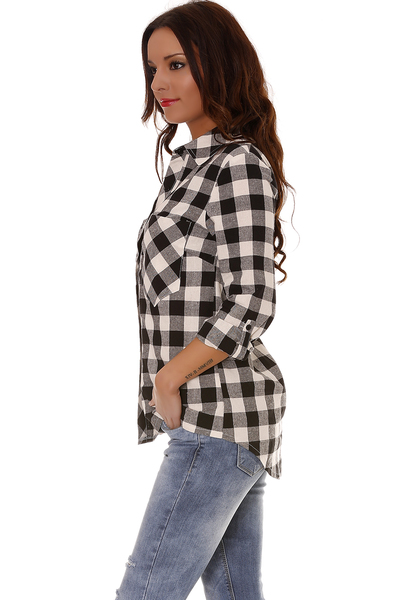 ff4c34017febc Chemise noir et blanche femme - Vetement fitness et mode
