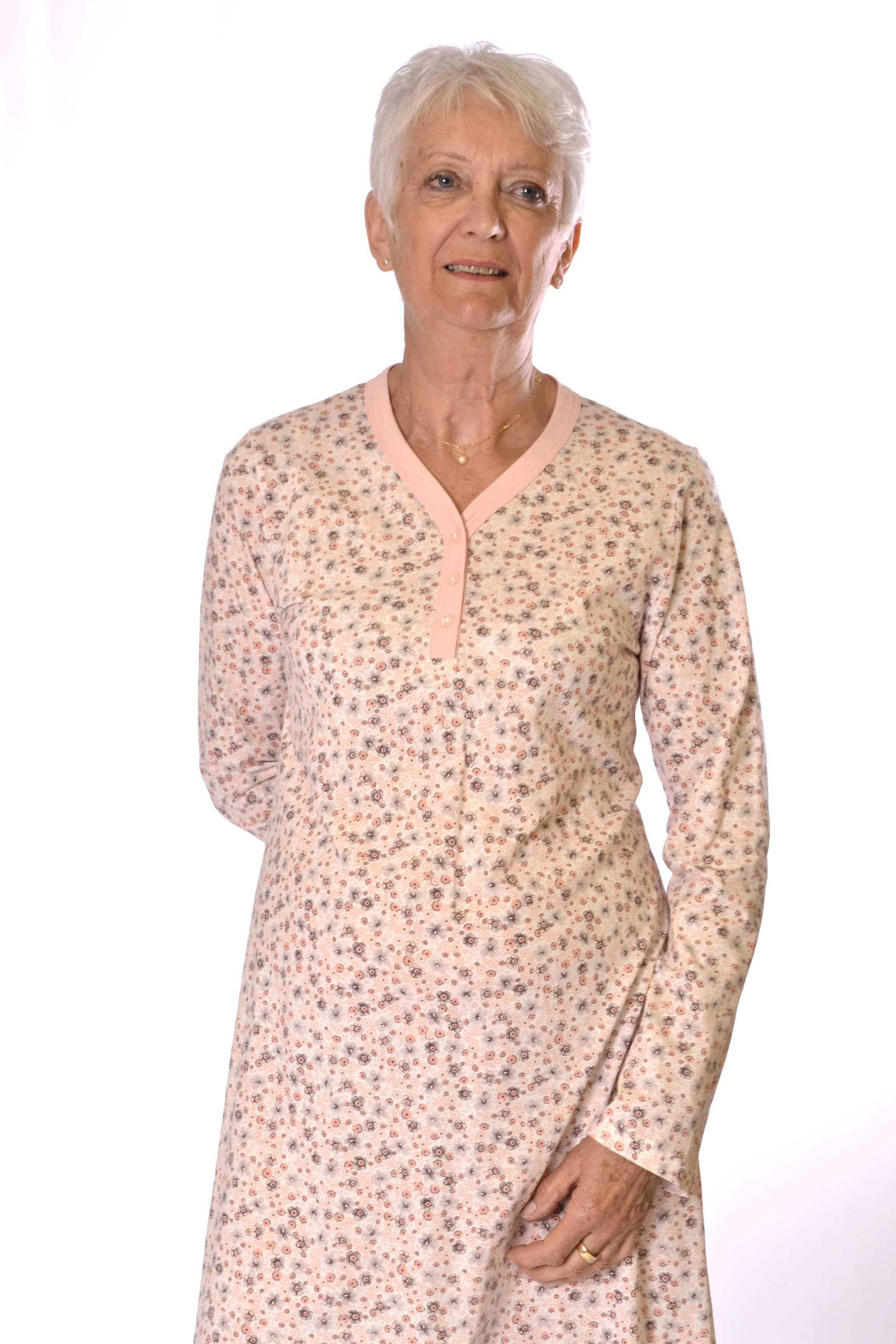 Chemise nuit femme coton