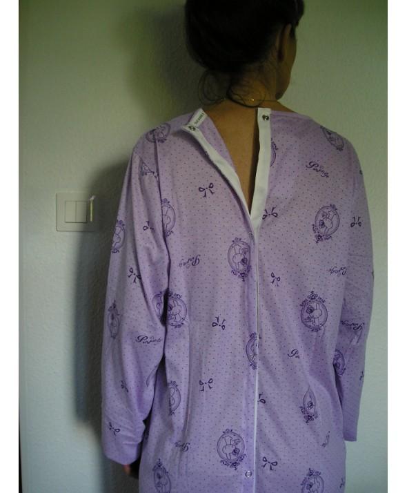 Chemise de nuit ouverte dans le dos pas cher