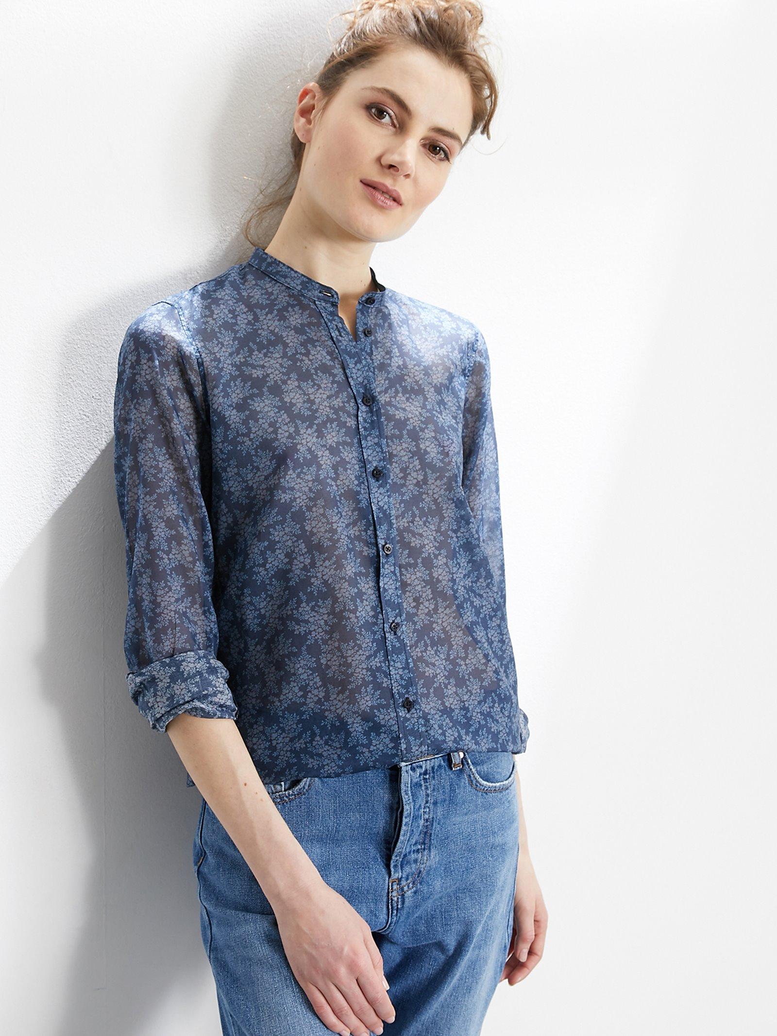 Chemise femme sans col