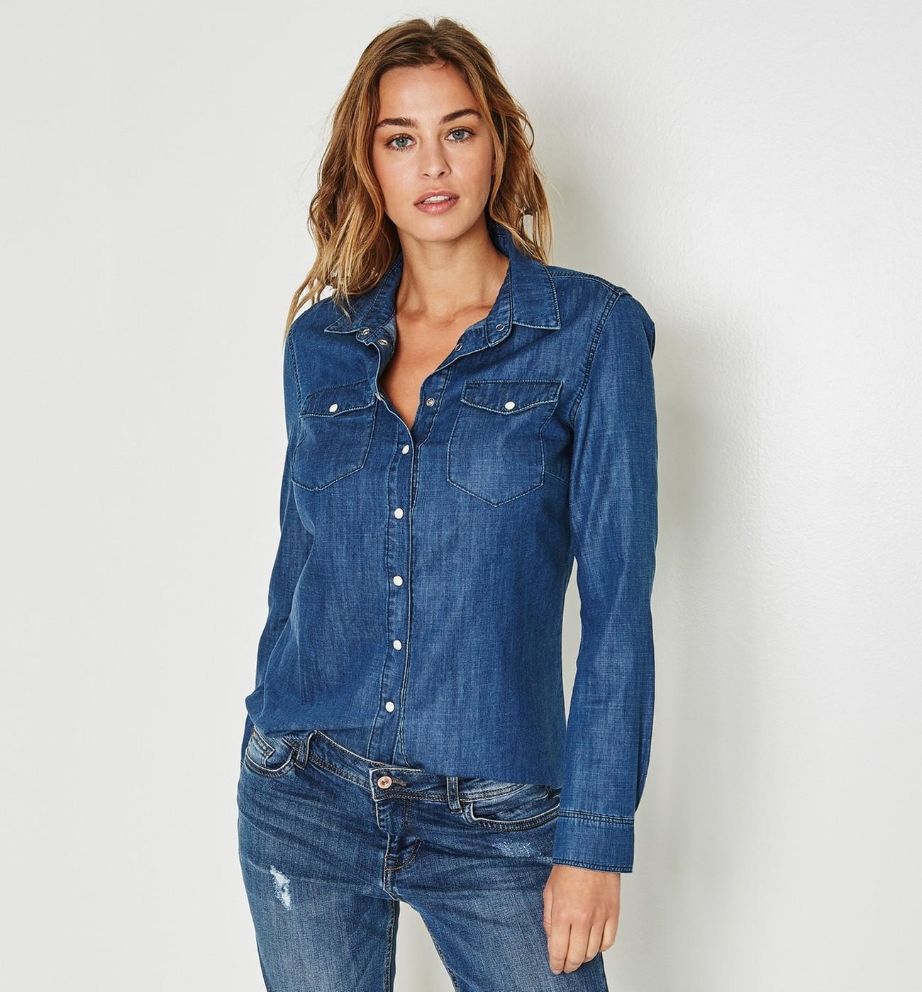 Chemise jean femme cintrée. Chemise jean femme cintrée. Je veux trouver une belle  chemise femme et agréable à porter pas cher ICI ... 0a1ea1d1da73