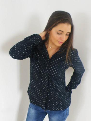 Chemise bleu marine femme