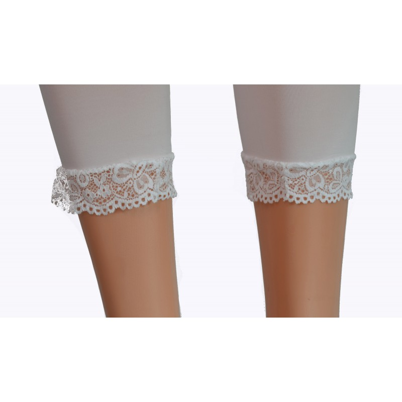 Legging corsaire blanc femme