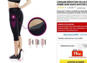 Legging réduction cellulite fitness femme noir shape booster domyos