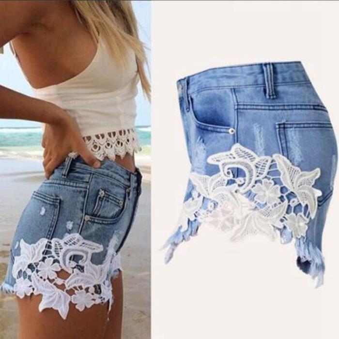 Mini short jean femme pas cher - Vetement fitness et mode 0c84c209ce50