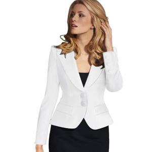 Veste femme tailleur blanche