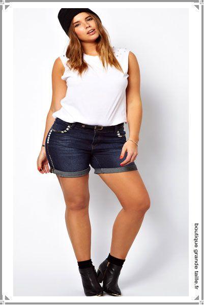 Mini short femme grande taille