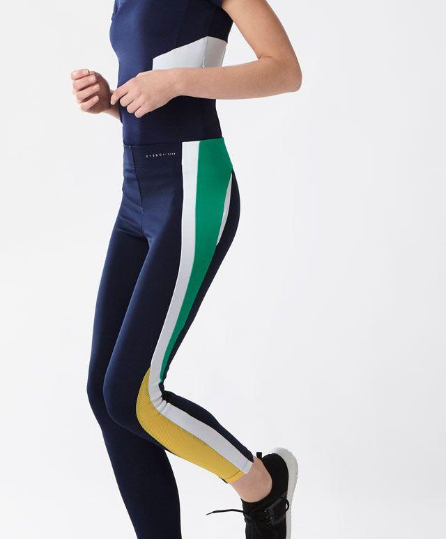 Legging long femme blanc