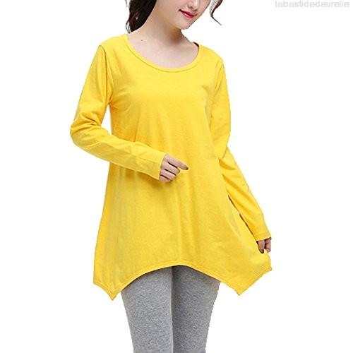 Tunique jaune femme
