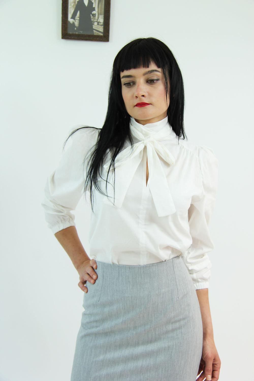 Chemise blanche femme manche longue