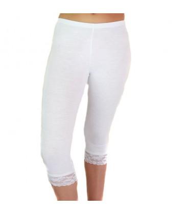 Legging dentelle blanc femme