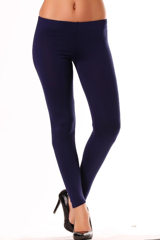 Legging femme bleu marine