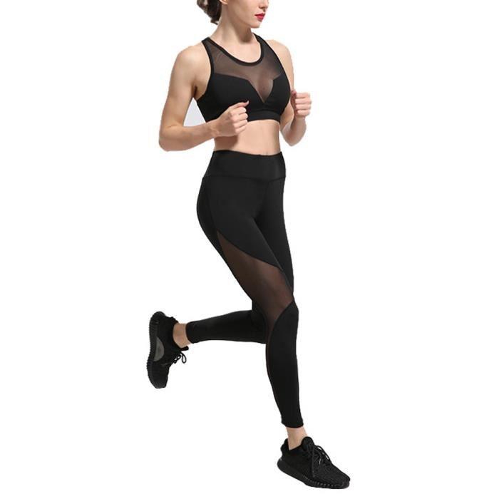 Legging sport transparent pour femme