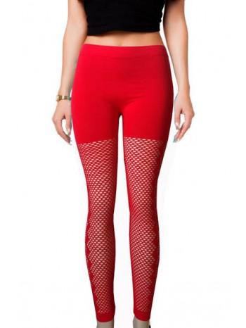 Legging long rouge femme