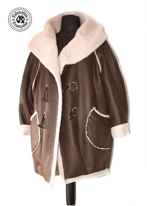 Veste peau lainée femme grande taille - Vetement fitness et mode c35465070f6