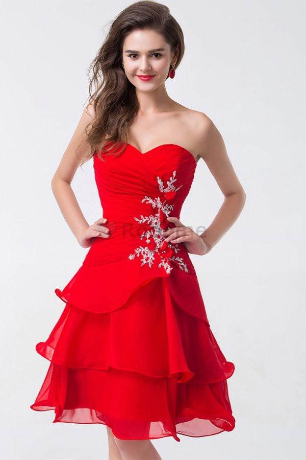 beece9d3bb7 Robe de soiree courte rouge - Vetement fitness et mode