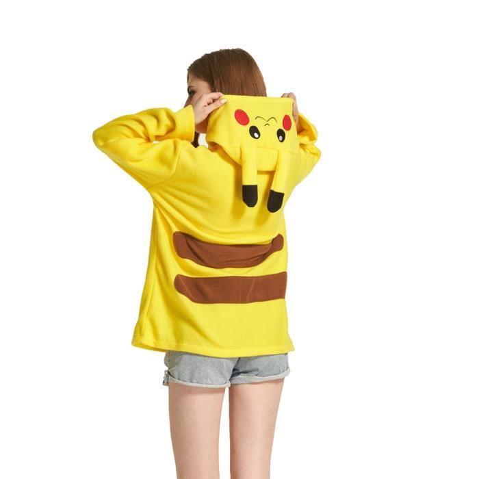 Veste pikachu femme pas cher